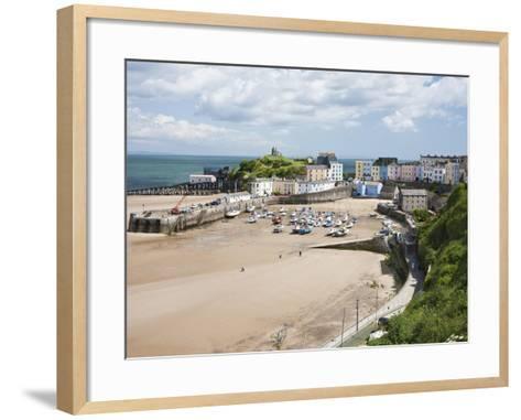 Tenby Harbour, Tenby, Pembrokeshire, Wales, United Kingdom, Europe-David Clapp-Framed Art Print