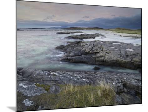 A Beautiful Moody Sunset over the Beach at Sanna Bay, Argyll and Bute, Scotland, United Kingdom, Eu-Jon Gibbs-Mounted Photographic Print