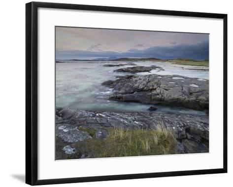 A Beautiful Moody Sunset over the Beach at Sanna Bay, Argyll and Bute, Scotland, United Kingdom, Eu-Jon Gibbs-Framed Art Print