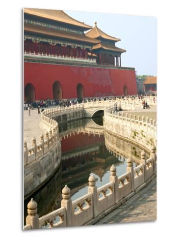River of Gold, Forbidden City, Beijing, China, Asia-Kimberly Walker-Metal Print