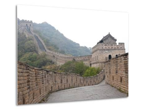 Great Wall of China, UNESCO World Heritage Site, Mutianyu, China, Asia-Kimberly Walker-Metal Print