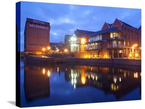 Waterfront at Night, Nottingham, Nottinghamshire, England, United Kingdom, Europe-Frank Fell-Stretched Canvas Print