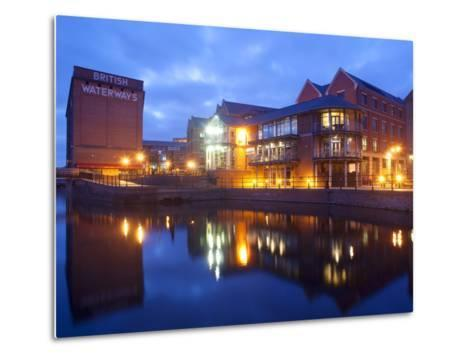 Waterfront at Night, Nottingham, Nottinghamshire, England, United Kingdom, Europe-Frank Fell-Metal Print