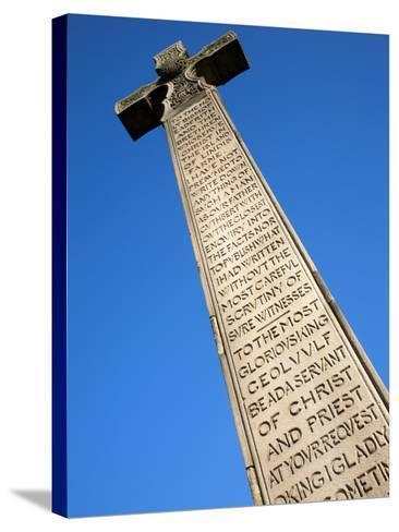 Bedes Memorial Cross, Roker, Sunderland, Tyne and Wear, England, United Kingdom, Europe-Mark Sunderland-Stretched Canvas Print