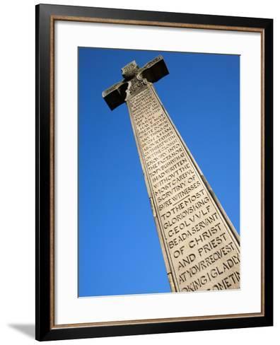 Bedes Memorial Cross, Roker, Sunderland, Tyne and Wear, England, United Kingdom, Europe-Mark Sunderland-Framed Art Print