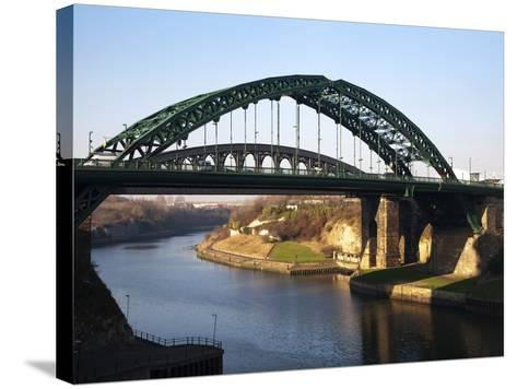 Wearmouth Bridge over the River Wear, Sunderland, Tyne and Wear, England, United Kingdom, Europe-Mark Sunderland-Stretched Canvas Print