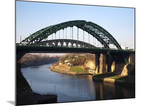 Wearmouth Bridge over the River Wear, Sunderland, Tyne and Wear, England, United Kingdom, Europe-Mark Sunderland-Mounted Photographic Print