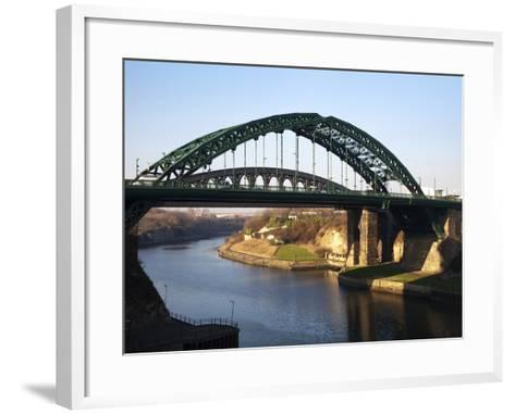 Wearmouth Bridge over the River Wear, Sunderland, Tyne and Wear, England, United Kingdom, Europe-Mark Sunderland-Framed Art Print