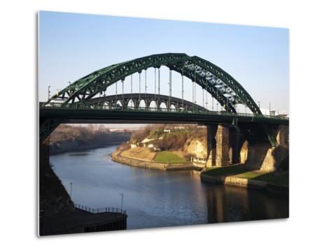 Wearmouth Bridge over the River Wear, Sunderland, Tyne and Wear, England, United Kingdom, Europe-Mark Sunderland-Metal Print