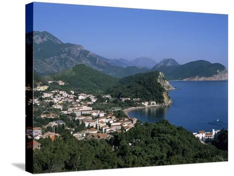 View over Resort, Petrovac, the Budva Riviera, Montenegro, Europe-Stuart Black-Stretched Canvas Print