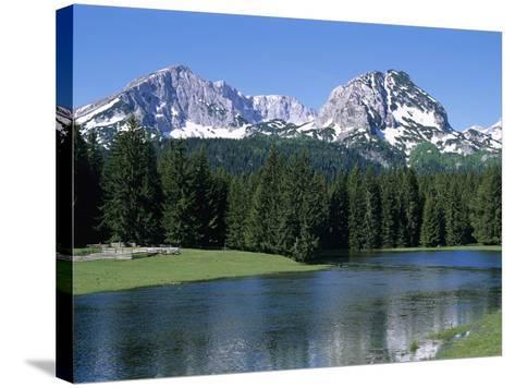 Durmitor Mountain Range, Near Zabljak, Durmitor National Park, UNESCO World Heritage Site, Tramonta-Stuart Black-Stretched Canvas Print