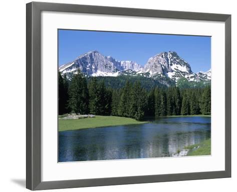 Durmitor Mountain Range, Near Zabljak, Durmitor National Park, UNESCO World Heritage Site, Tramonta-Stuart Black-Framed Art Print