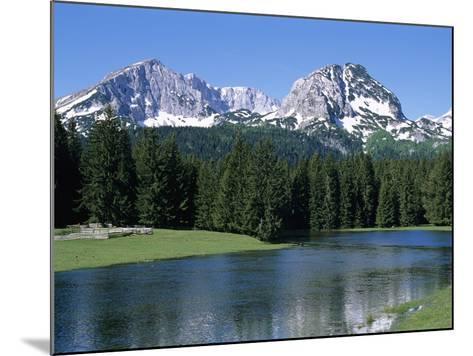 Durmitor Mountain Range, Near Zabljak, Durmitor National Park, UNESCO World Heritage Site, Tramonta-Stuart Black-Mounted Photographic Print