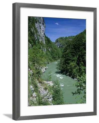 Tara Canyon and Tara River, Tramontana, Montenegro, Europe-Stuart Black-Framed Art Print