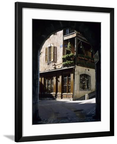 Archway in the Old Town, Annecy, Lake Annecy, Rhone Alpes, France, Europe-Stuart Black-Framed Art Print