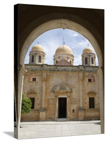 Entrance of Monastery, Agia Triada Monastery (Moni Zangarolo), Akrotiri Peninsula, Chania Region, C-Stuart Black-Stretched Canvas Print