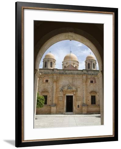 Entrance of Monastery, Agia Triada Monastery (Moni Zangarolo), Akrotiri Peninsula, Chania Region, C-Stuart Black-Framed Art Print