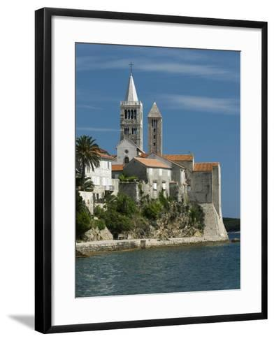 View of Old Town and Campaniles, Rab Town, Rab Island, Kvarner Gulf, Croatia, Adriatic, Europe-Stuart Black-Framed Art Print