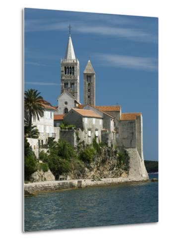 View of Old Town and Campaniles, Rab Town, Rab Island, Kvarner Gulf, Croatia, Adriatic, Europe-Stuart Black-Metal Print