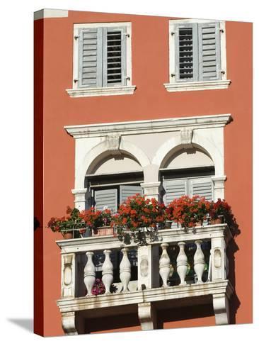Colourful Balcony, Rovinj, Istria, Croatia, Europe-Stuart Black-Stretched Canvas Print