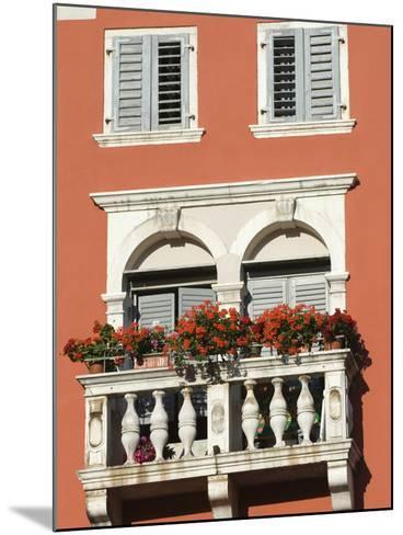 Colourful Balcony, Rovinj, Istria, Croatia, Europe-Stuart Black-Mounted Photographic Print