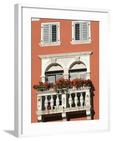 Colourful Balcony, Rovinj, Istria, Croatia, Europe-Stuart Black-Framed Art Print
