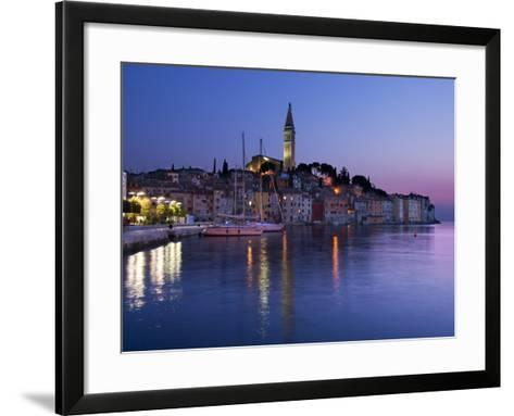 Old Town and St. Euphemia's Church at Dusk, Rovinj, Istria, Croatia, Adriatic, Europe-Stuart Black-Framed Art Print