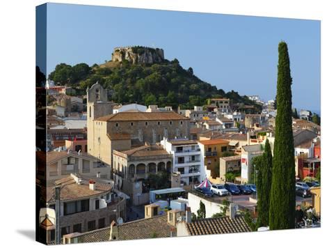 Ruined Castle Above Old Town, Begur, Costa Brava, Catalonia, Spain, Europe-Stuart Black-Stretched Canvas Print