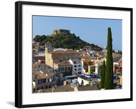 Ruined Castle Above Old Town, Begur, Costa Brava, Catalonia, Spain, Europe-Stuart Black-Framed Art Print