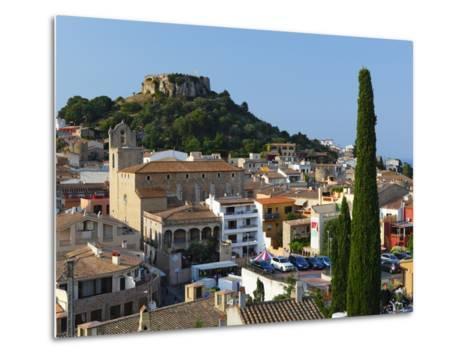 Ruined Castle Above Old Town, Begur, Costa Brava, Catalonia, Spain, Europe-Stuart Black-Metal Print
