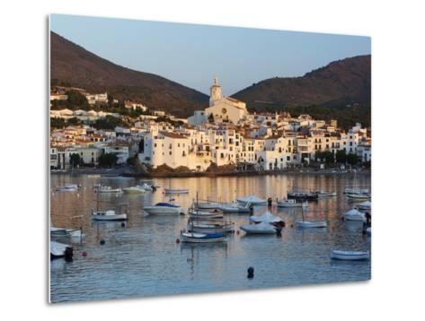 Harbour and Town, Cadaques, Costa Brava, Catalonia, Spain, Mediterranean, Europe-Stuart Black-Metal Print