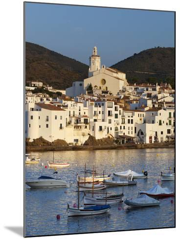 Harbour and Town, Cadaques, Costa Brava, Catalonia, Spain, Mediterranean, Europe-Stuart Black-Mounted Photographic Print