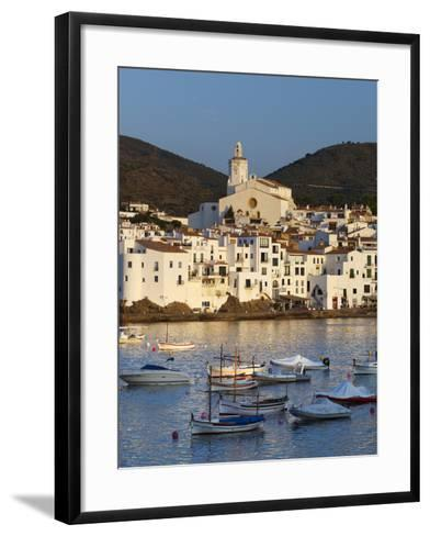 Harbour and Town, Cadaques, Costa Brava, Catalonia, Spain, Mediterranean, Europe-Stuart Black-Framed Art Print