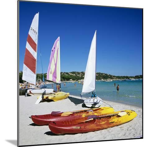 Watersports on Beach, Plage De Santa Giulia, Southeast Coast, Corsica, France, Mediterranean, Europ-Stuart Black-Mounted Photographic Print