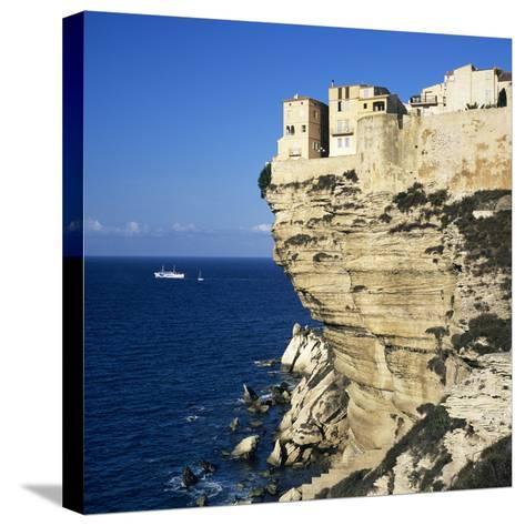 Haute Ville on Cliff Edge, Bonifacio, South Corsica, Corsica, France, Mediterranean, Europe-Stuart Black-Stretched Canvas Print