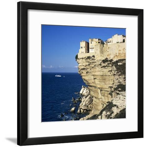 Haute Ville on Cliff Edge, Bonifacio, South Corsica, Corsica, France, Mediterranean, Europe-Stuart Black-Framed Art Print