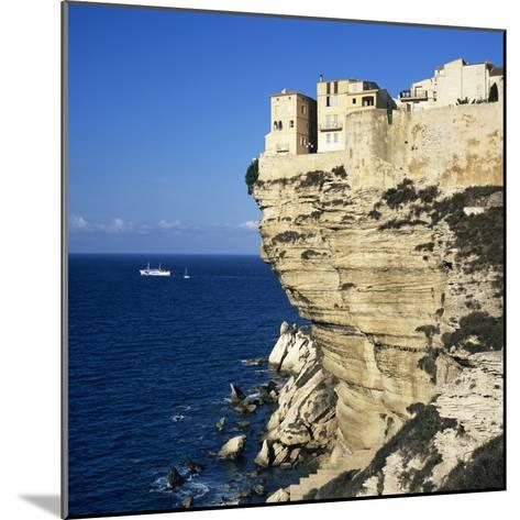 Haute Ville on Cliff Edge, Bonifacio, South Corsica, Corsica, France, Mediterranean, Europe-Stuart Black-Mounted Photographic Print