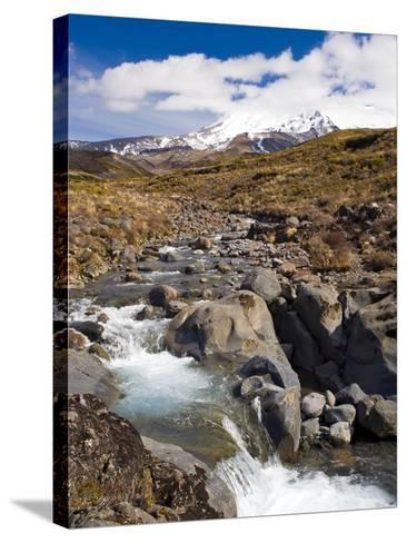 Mount Ruapehu, Tongariro National Park, UNESCO World Heritage Site, North Island, New Zealand, Paci-Ben Pipe-Stretched Canvas Print