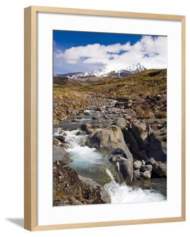Mount Ruapehu, Tongariro National Park, UNESCO World Heritage Site, North Island, New Zealand, Paci-Ben Pipe-Framed Art Print