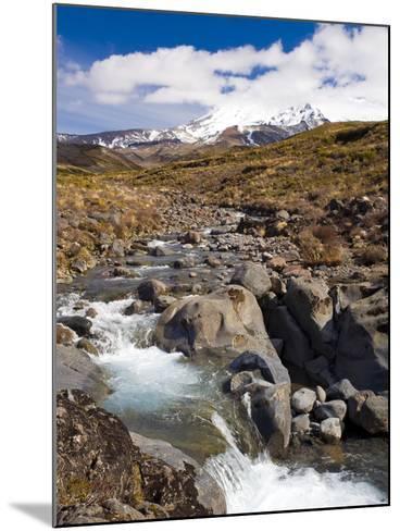 Mount Ruapehu, Tongariro National Park, UNESCO World Heritage Site, North Island, New Zealand, Paci-Ben Pipe-Mounted Photographic Print