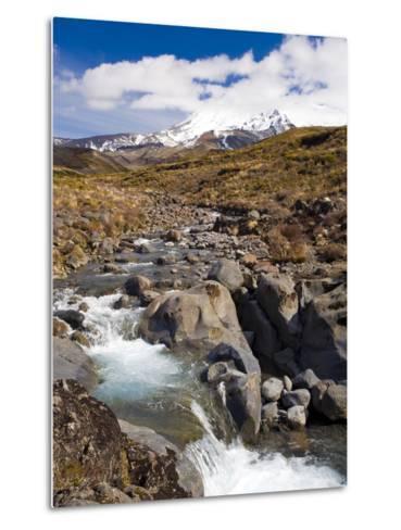 Mount Ruapehu, Tongariro National Park, UNESCO World Heritage Site, North Island, New Zealand, Paci-Ben Pipe-Metal Print