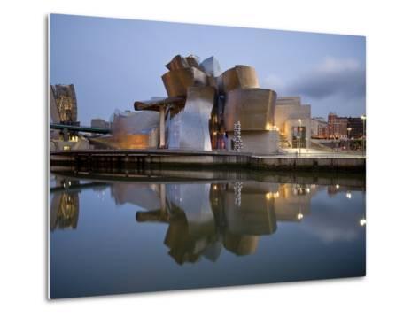 Guggenheim Museum, Bilbao, Euskal Herria, Euskadi, Spain, Europe-Ben Pipe-Metal Print