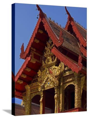 Facade of Wat Phra Singh Temple, Chiang Mai, Chiang Mai Province, Thailand, Southeast Asia, Asia-Ben Pipe-Stretched Canvas Print