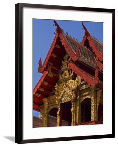 Facade of Wat Phra Singh Temple, Chiang Mai, Chiang Mai Province, Thailand, Southeast Asia, Asia-Ben Pipe-Framed Art Print