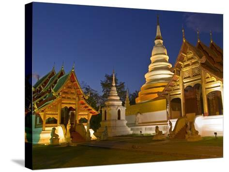 Wat Phra Singh Temple, Chiang Mai, Chiang Mai Province, Thailand, Southeast Asia, Asia-Ben Pipe-Stretched Canvas Print