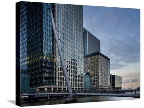 Canary Wharf, Docklands, London, England, United Kingdom, Europe-Ben Pipe-Stretched Canvas Print
