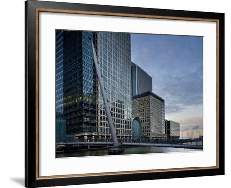 Canary Wharf, Docklands, London, England, United Kingdom, Europe-Ben Pipe-Framed Art Print