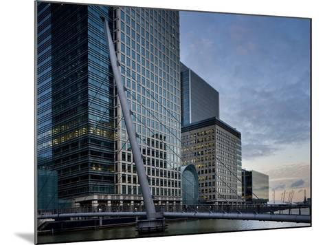 Canary Wharf, Docklands, London, England, United Kingdom, Europe-Ben Pipe-Mounted Photographic Print