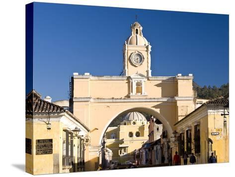 Arch of Santa Catalina, Antigua, UNESCO World Heritage Site, Guatemala, Central America-Ben Pipe-Stretched Canvas Print