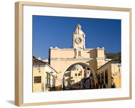 Arch of Santa Catalina, Antigua, UNESCO World Heritage Site, Guatemala, Central America-Ben Pipe-Framed Art Print